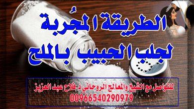 جلب الحبيب بالملح الشيخ الروحاني فلاح عبد العزيز 00966540290979